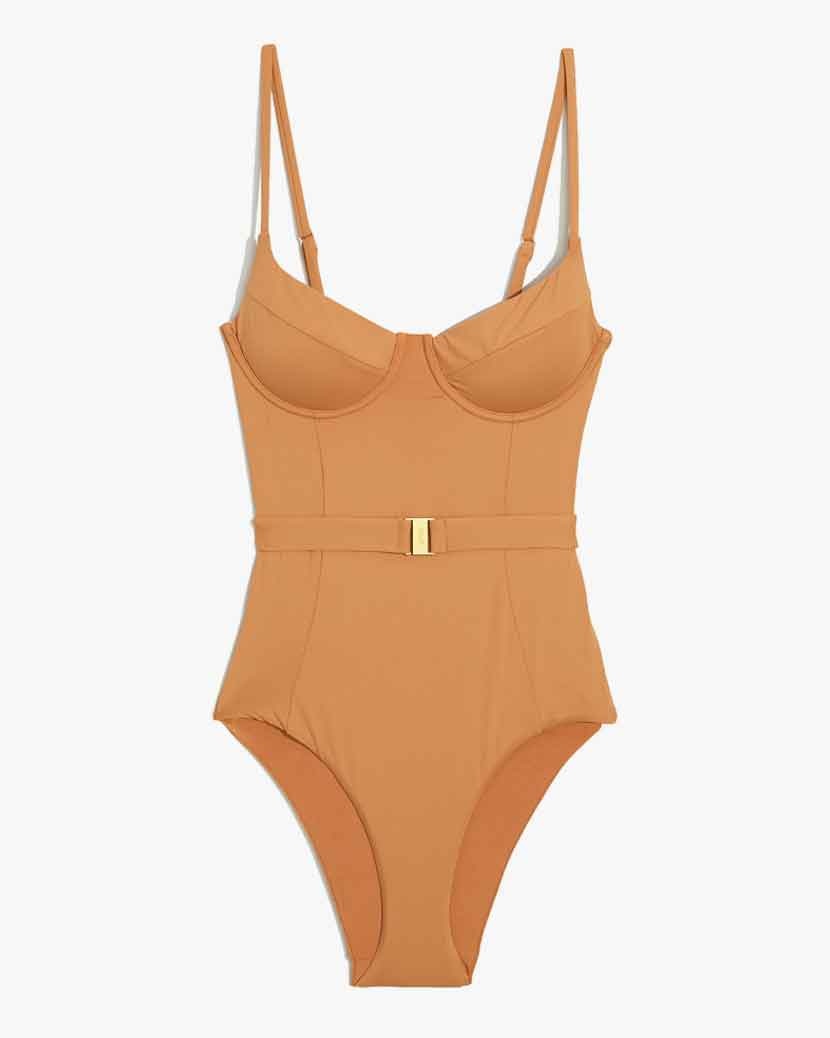 Onia X WeWoreWhat Danielle Swimsuit - Nude   £149