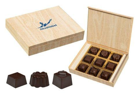 Unique Promotional Gifts - 9 Chocolate Box - Assorted Candies (10 Boxes)