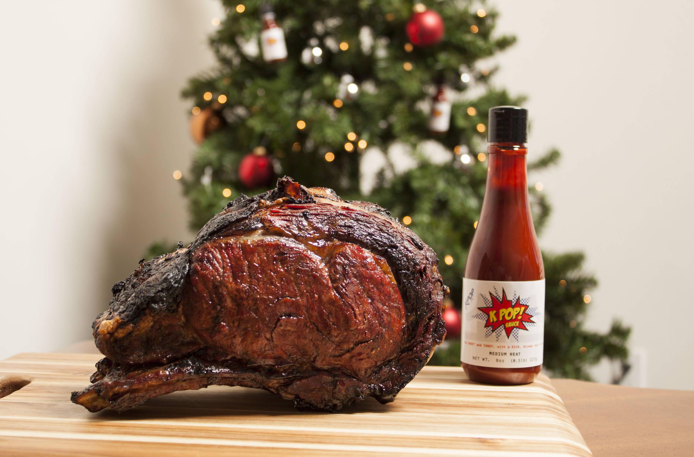 Holiday prime rib with kpop sauce