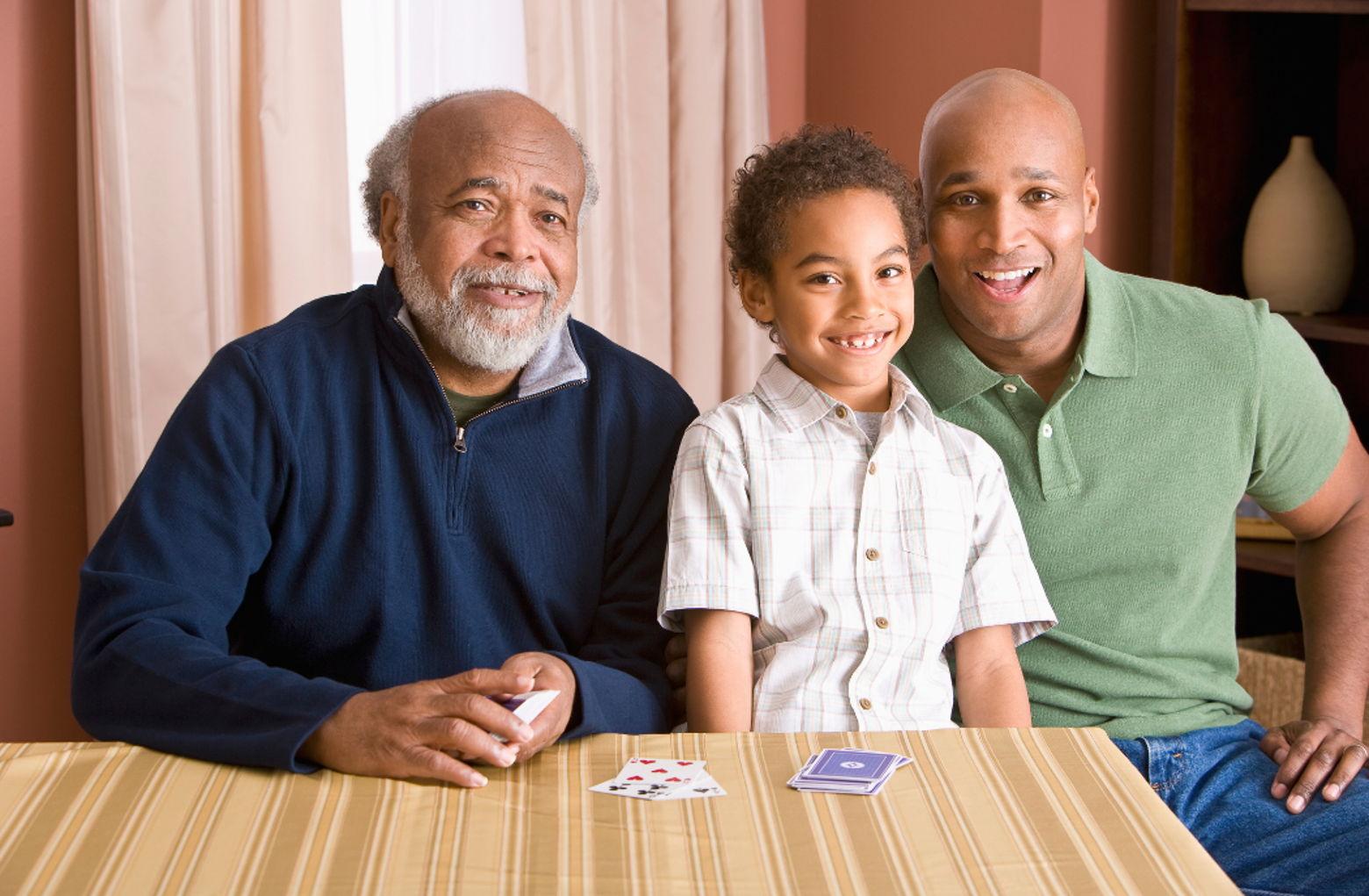 Image of three generations of men