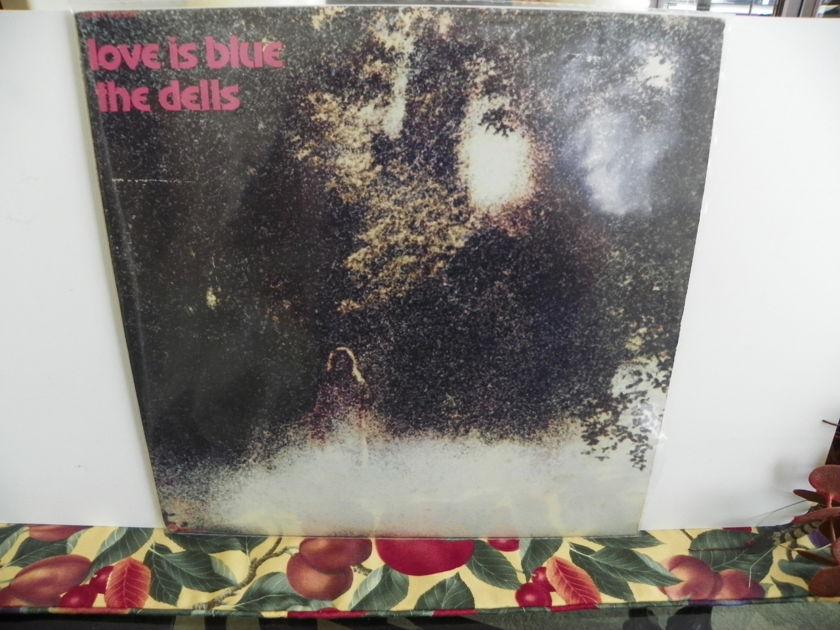 THE DELLS - LOVE IS BLUE Rare LP