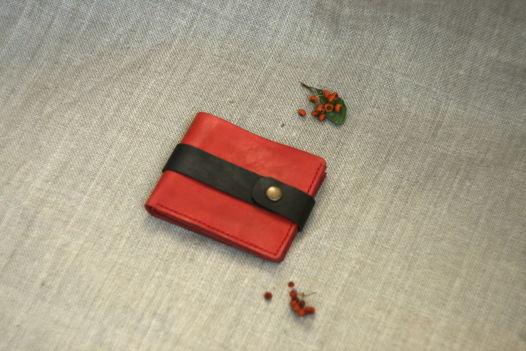 """Рябиновый бумажник из натуральной кожи, модель """"PURE"""" extra"""