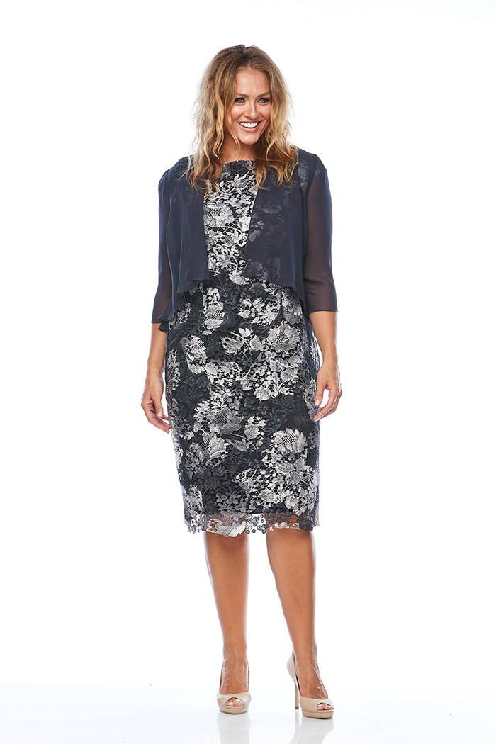 Layla Jones LJ0015 Slate dress set Eve Hunter Mother of the Bride/groom or wedding guest