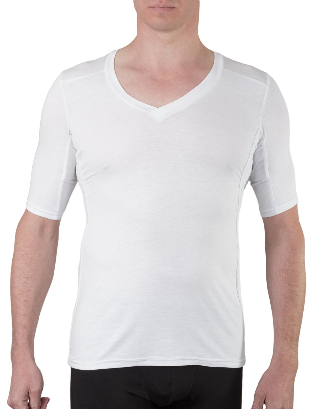 Oxford sweat protect mens bamboo undershirt