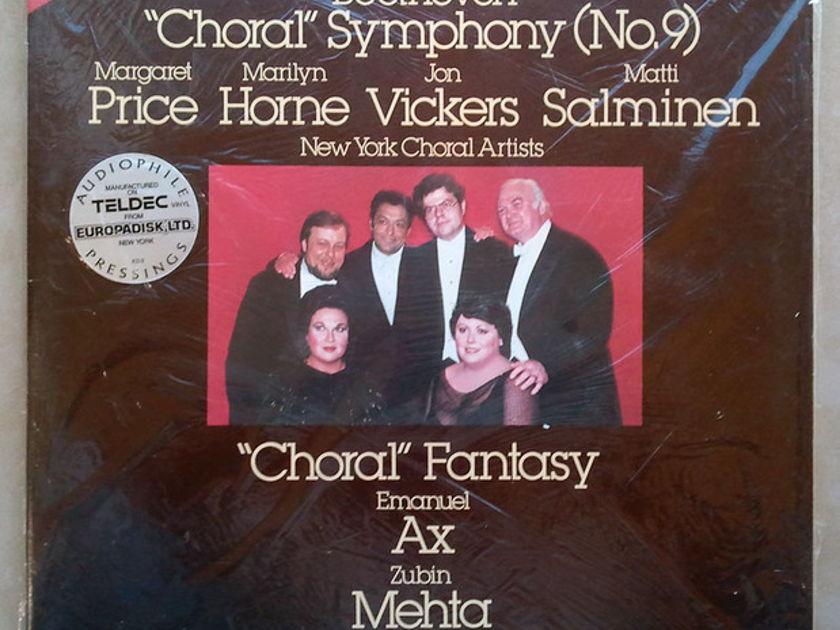 "Sealed/RCA Digital/Mehta/Beethoven - Symphony No.9 ""Choral"" / 2-LP Set / Audiophile Teldec German Pressings"