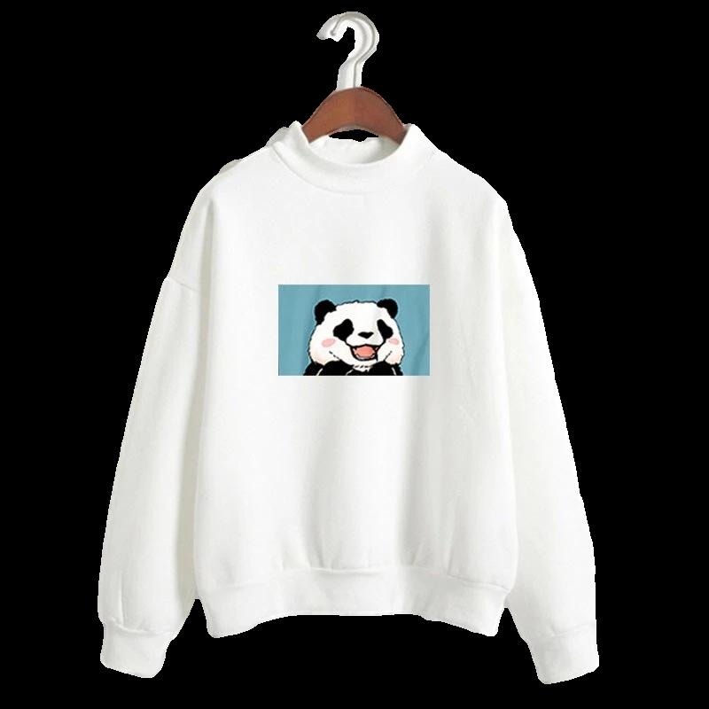 pull panda blanc image bleu au centre