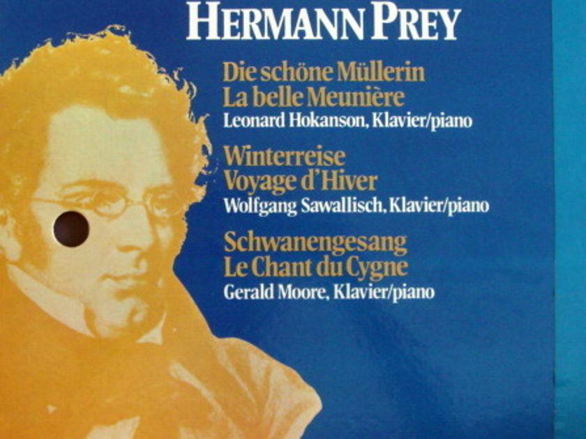Philips / HERMANN PREY, - Schubert Die Schone Mullerin, Winterreise, Schwanengesang, MINT, 4LP Box Set!