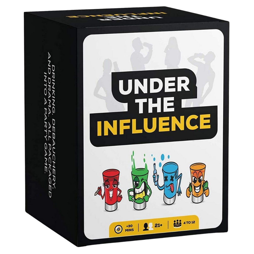 drinking card games, under the influence game, good drinking games
