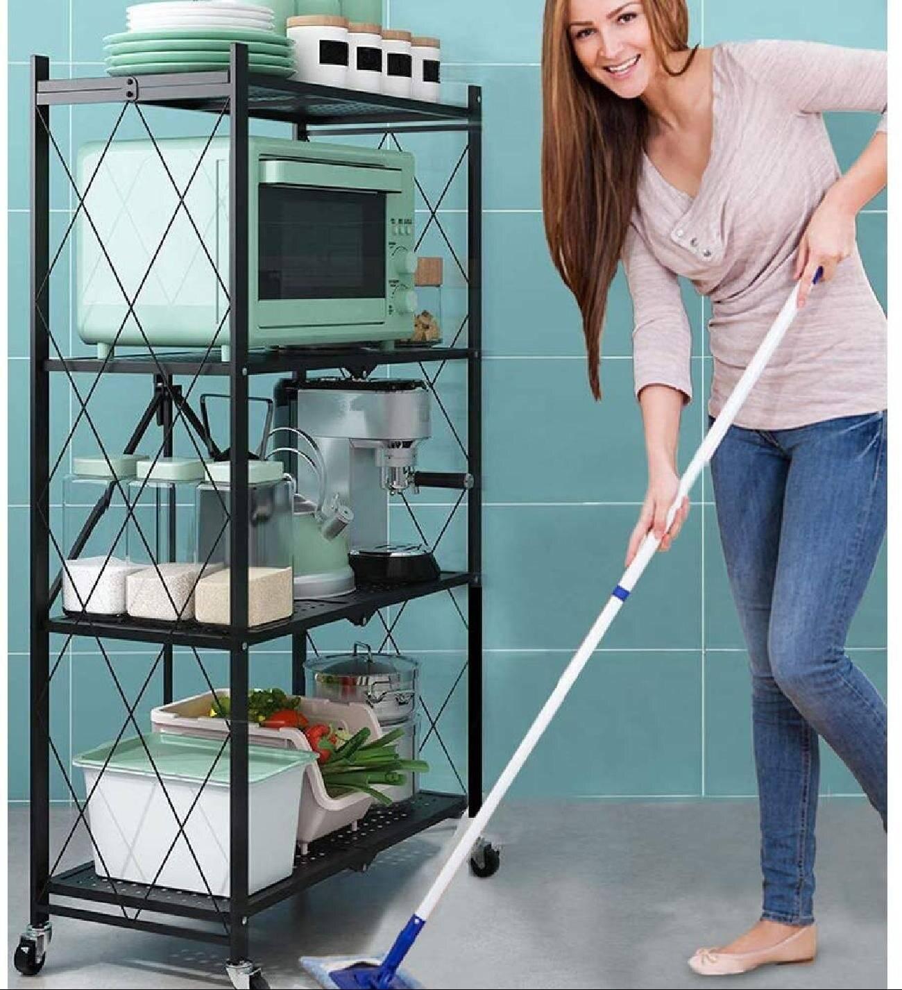 kitchen rack, 4 tier shelf, laundry room shelving, kitchen shelf