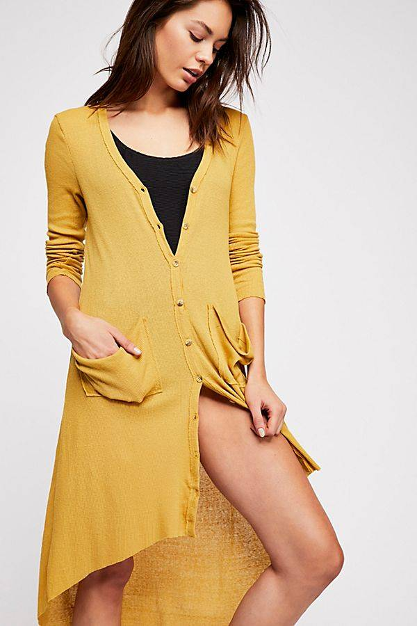 yellow spring cardigan from free people