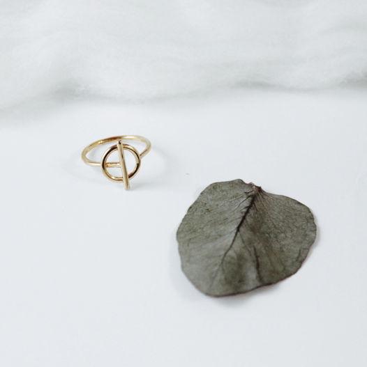 Кольцо 'Binary' серебро с позолотой