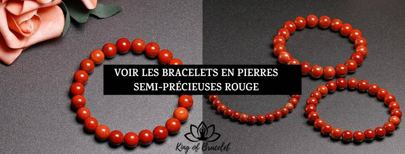Bracelets Pierres Rouges - King of Bracelet