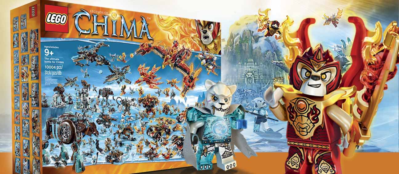 THE ULTIMATE BATTLE FOR CHIMA & LEGO CITY GIANT PACK