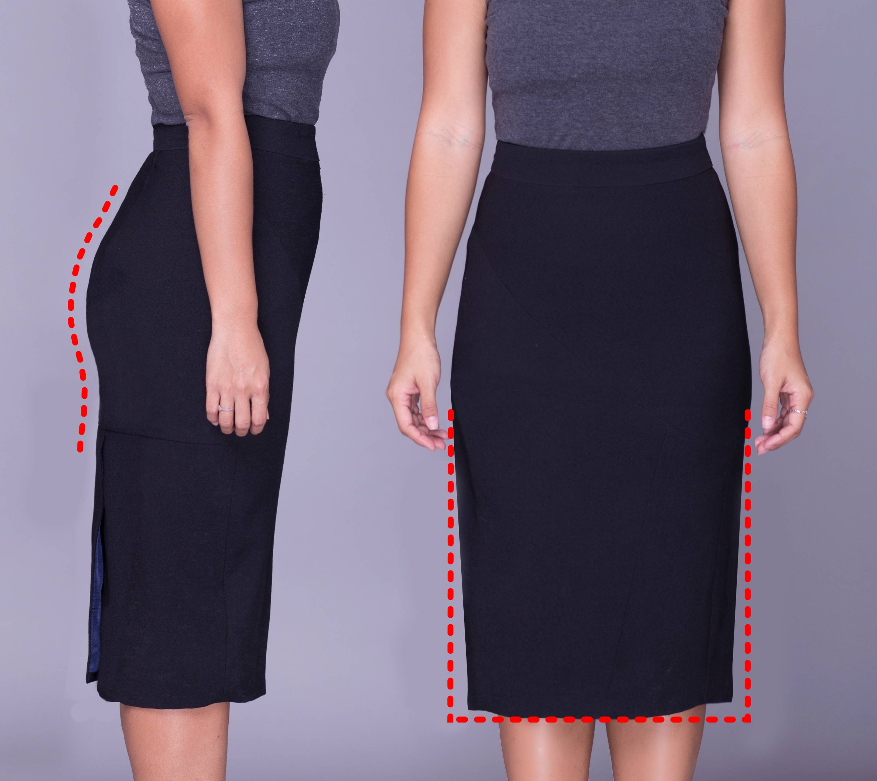 Rita Phil custom pencil skirts | Slim fit