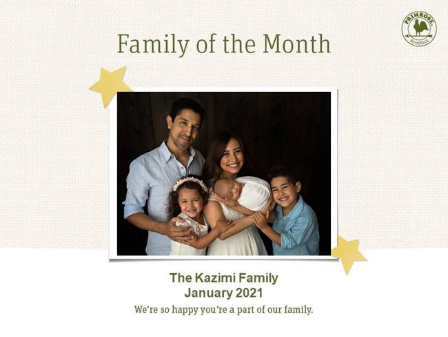 kazimi january family of the month