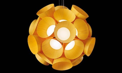 LZF Dandelion Pendant Lamp, featured in yellow