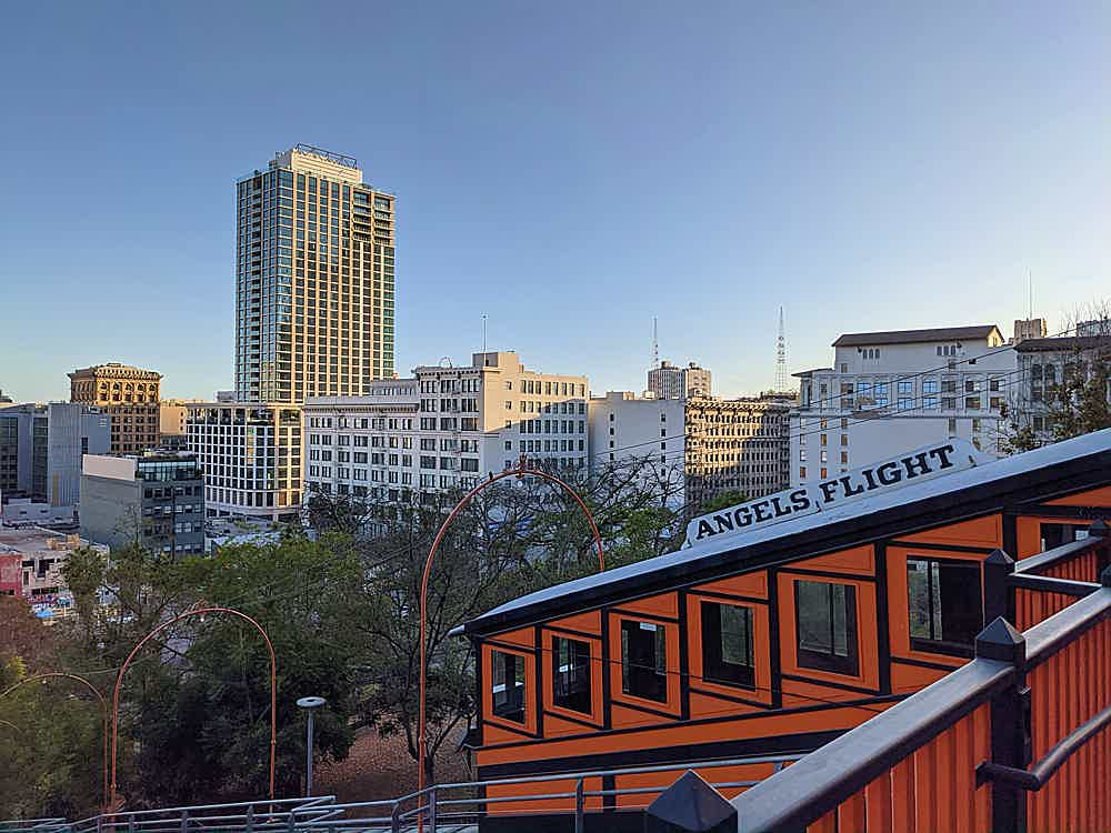 Angels Flight funicular railway in Los Angeles