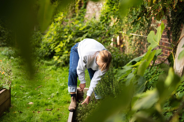 Xanthe Gladstone gardening