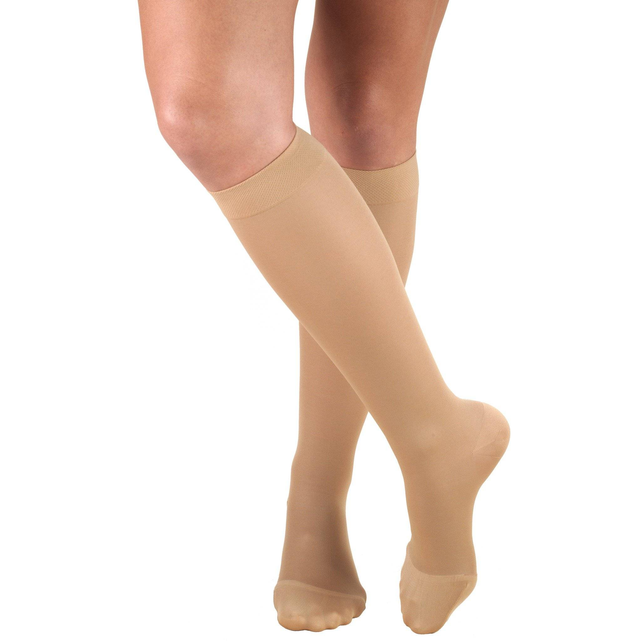 Ladies' Knee High Closed Toe Opaque Stockings