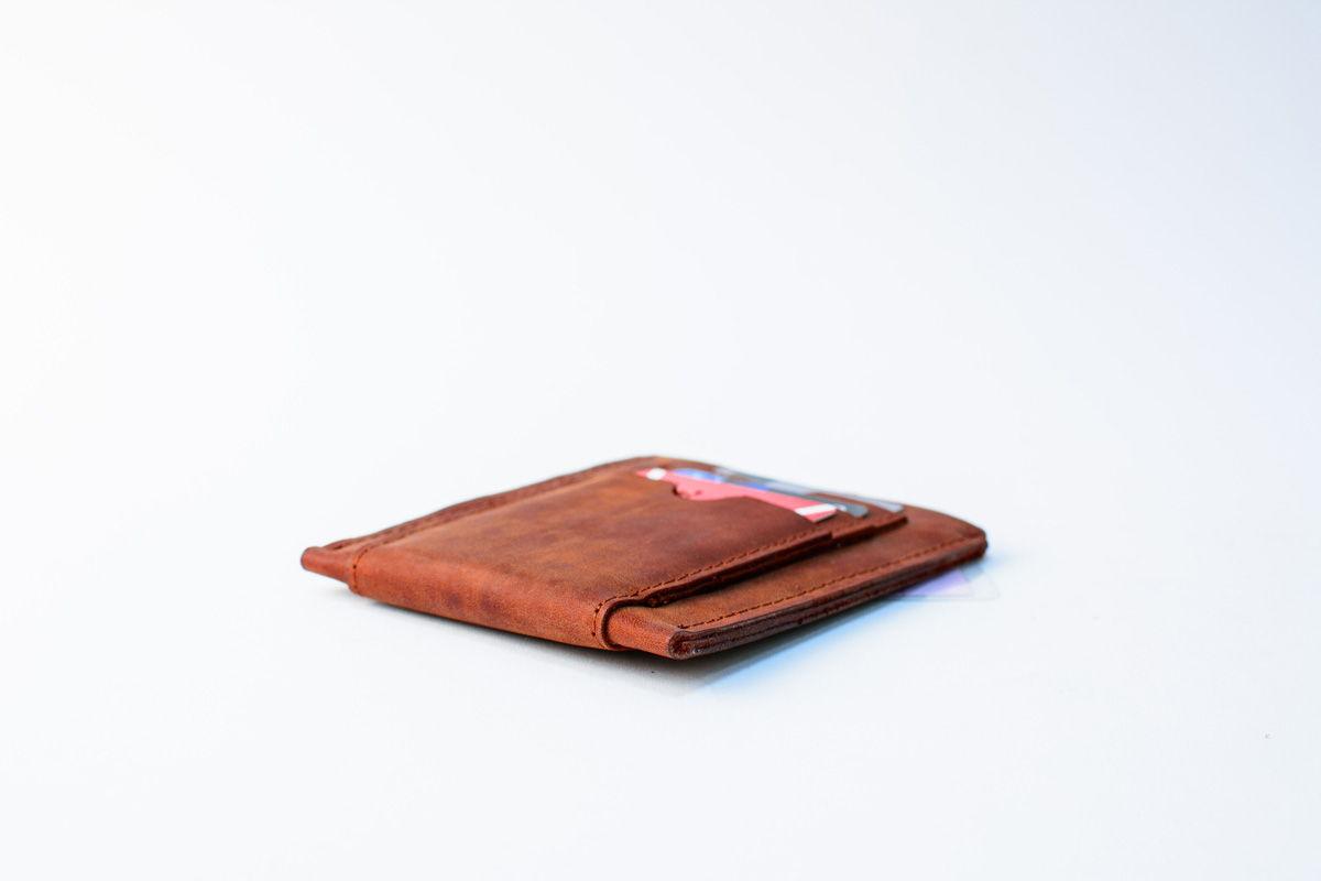 Карманная обложка для автодокументов из кожи -DRIFT- цвет Cognac