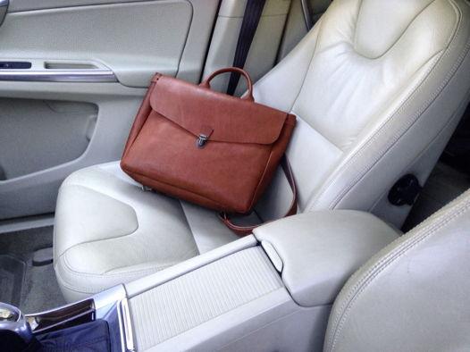 Кожаный рюкзак-портфель Cognac