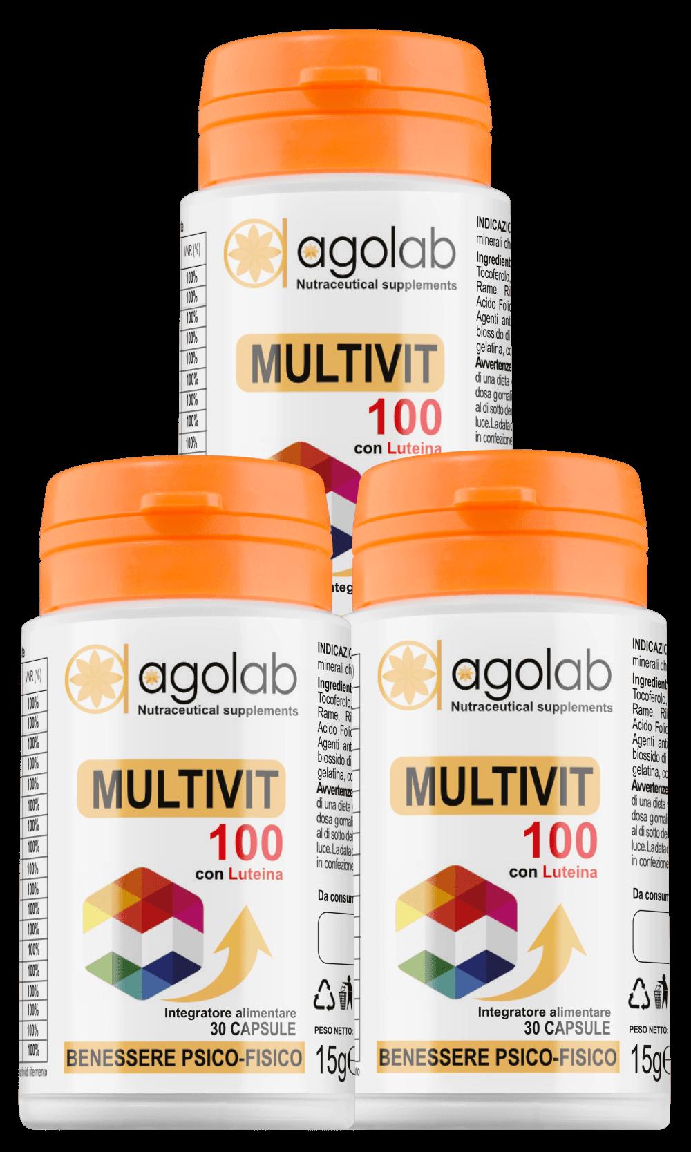 Multivit 100 multivitaminico sali minerali migliore agolab nutraceutica