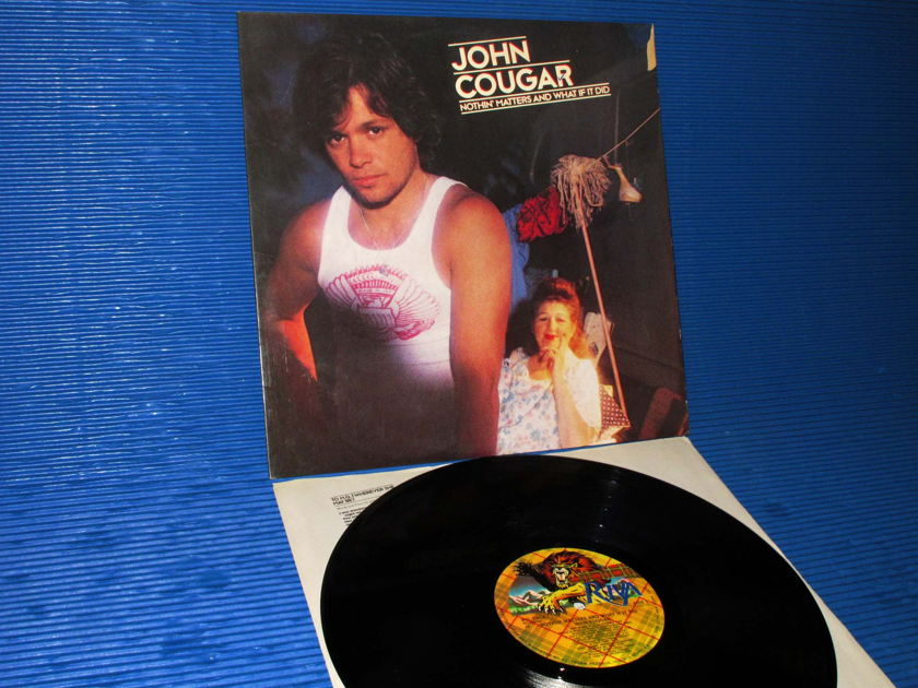"""JOHN COUGAR (MELLENCAMP) - - """"Nothin Matters & What If It Did""""  -  Riva 1980"""