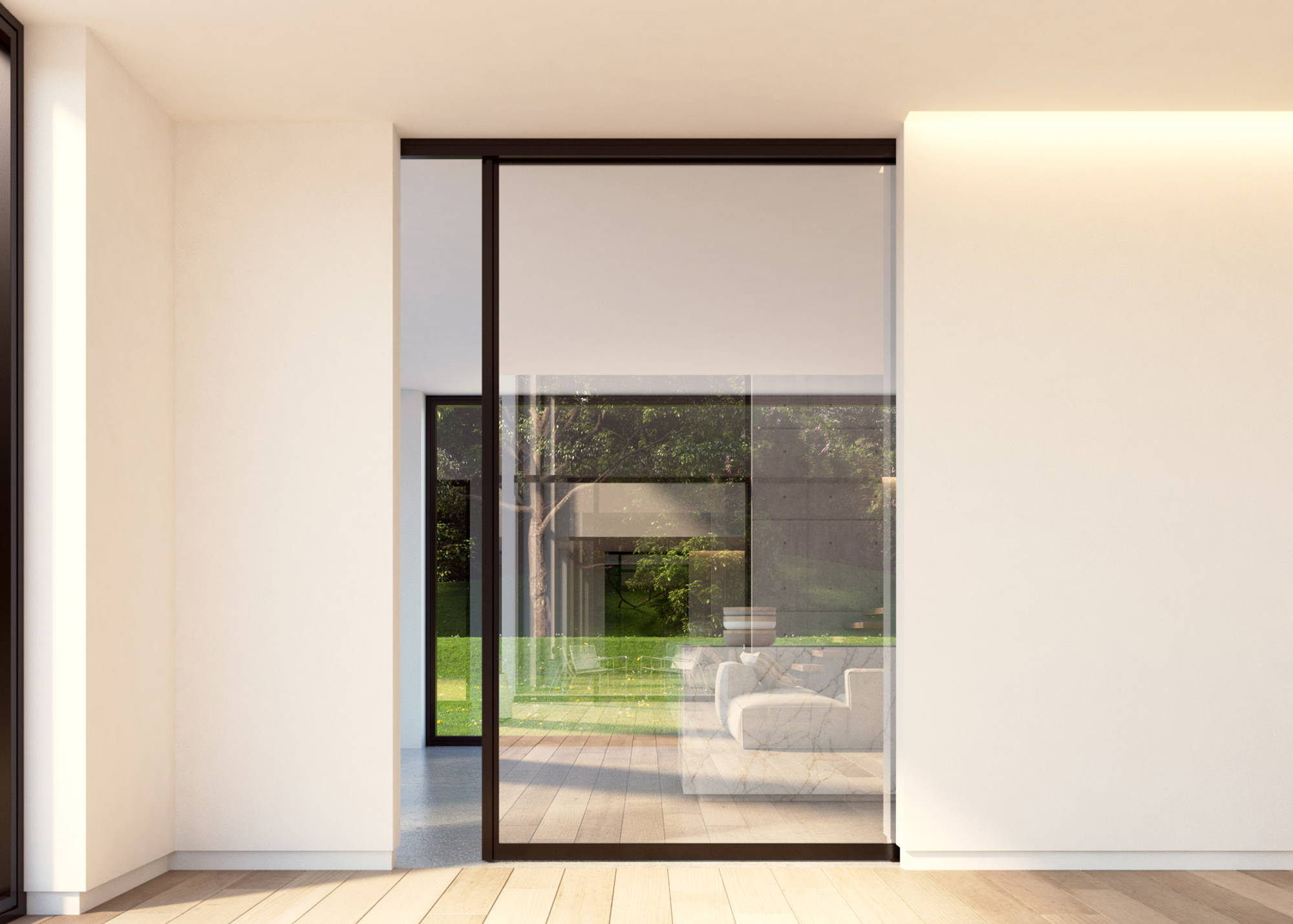 Glass And Aluminium Sliding Door System Portapivot