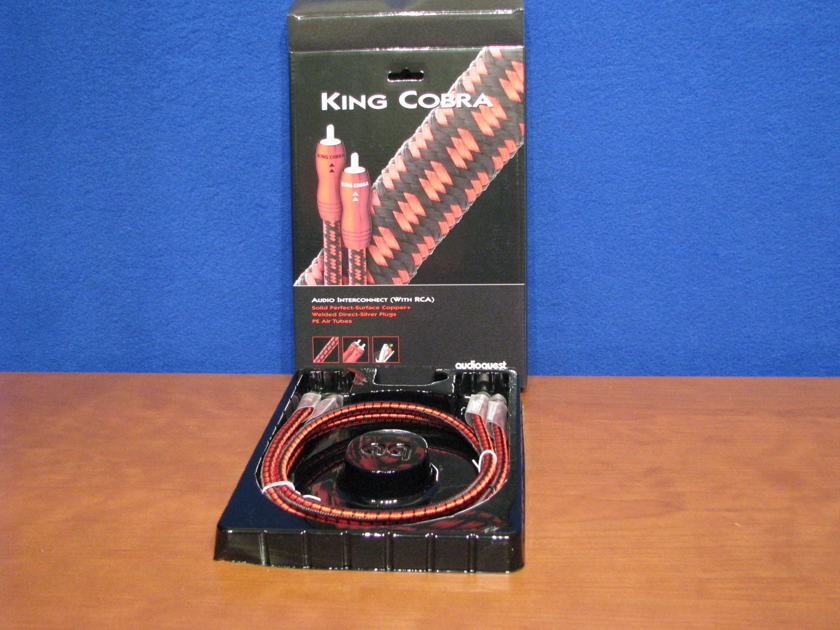 Audioquest King Cobra RCA 1 meter This cable is NEW in the box Great value in an Audioquest cable