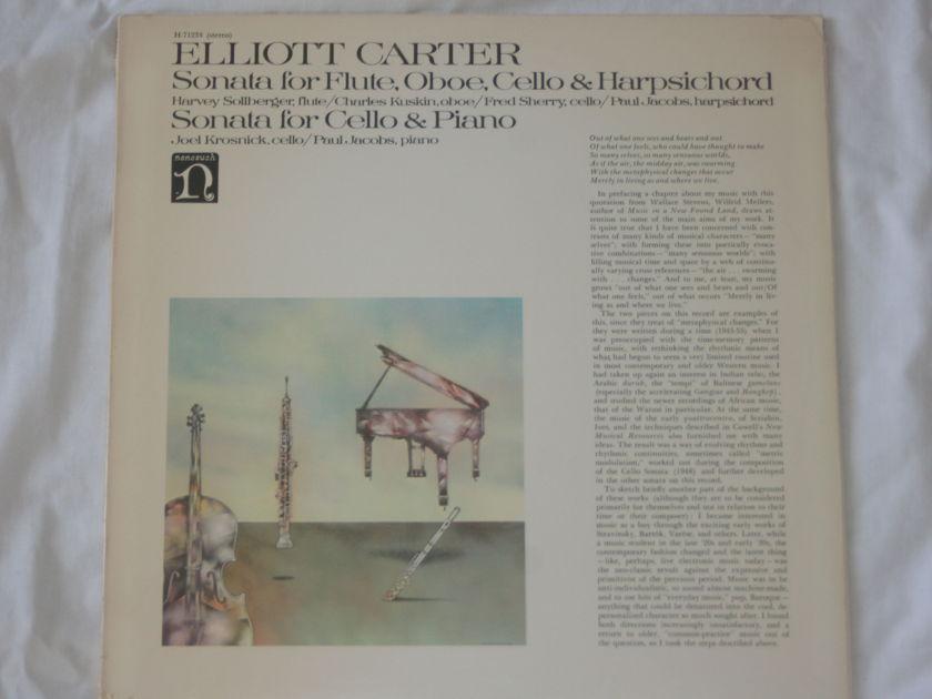 Elliot Carter - Sonata for Flute, Oboe, Cello, & Harpsichord & Sonata for Cello & Piano NoneSuch Records