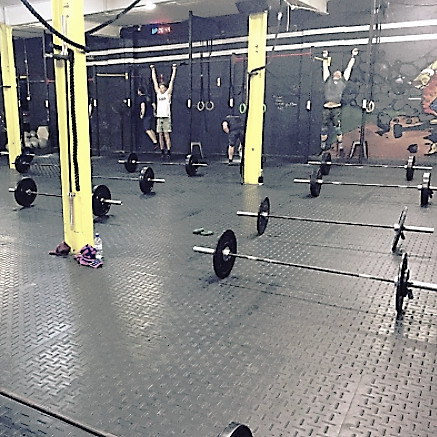 Stall mat gym flooring