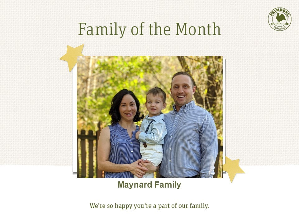 preschool family of the month photo