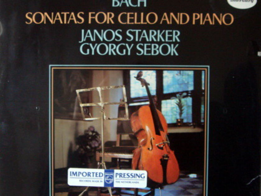 ★Sealed★ Mercury Golden Imports / JANOS STARKER, - Bach Cello Sonatas, Rare!