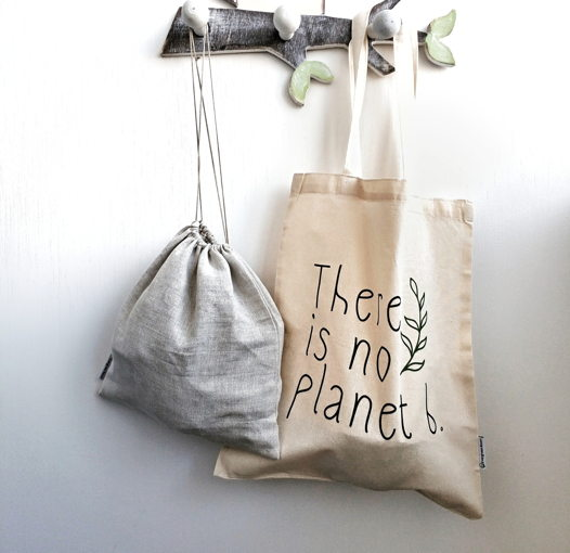 """Шопер из хлопка """"There is no planet b."""""""
