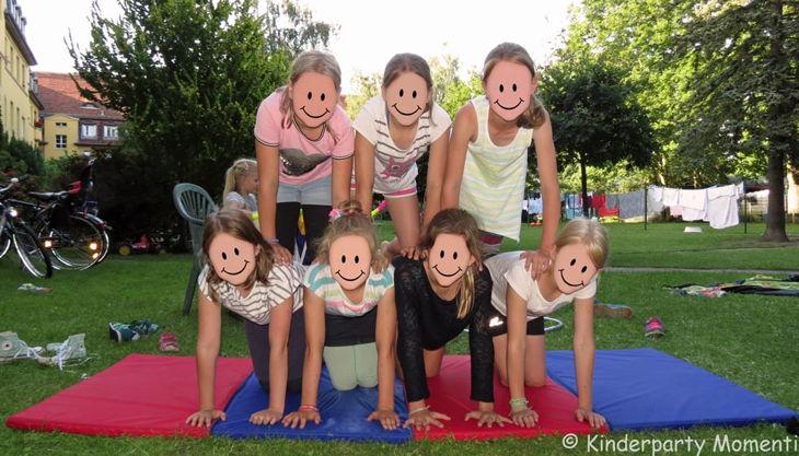 kindergeburtstag zirkus akrobatik