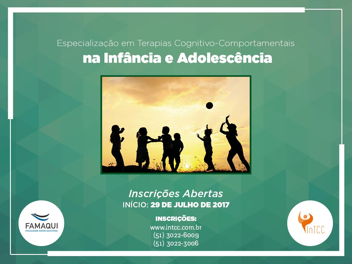 Curso de Especialização ou Formação em  Terapias Cognitivo-Comportamentais na Infância e Adolescência