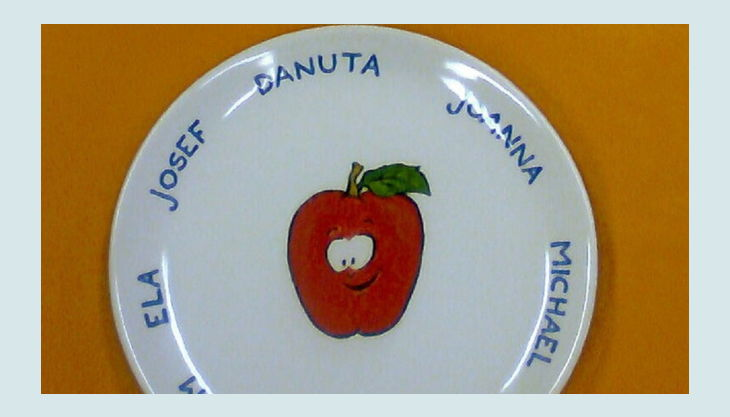 mal werk kindergeburtstag apfel namen keramik teller