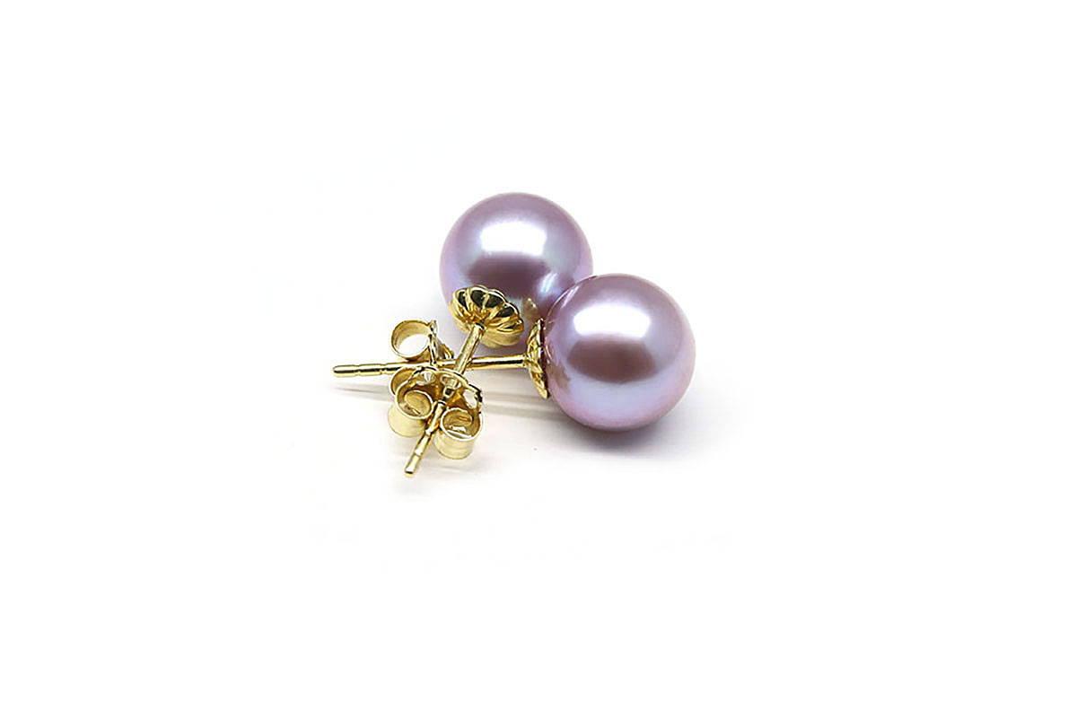 purple freshwater earrings