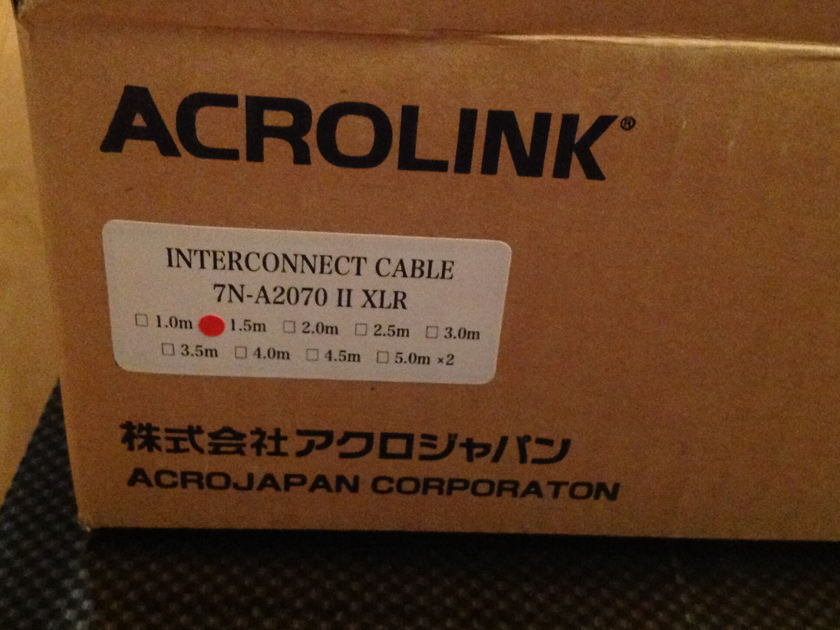 Acrolink Interconnects 7n-A2070 Series II XLR Balanced Cables: Pair