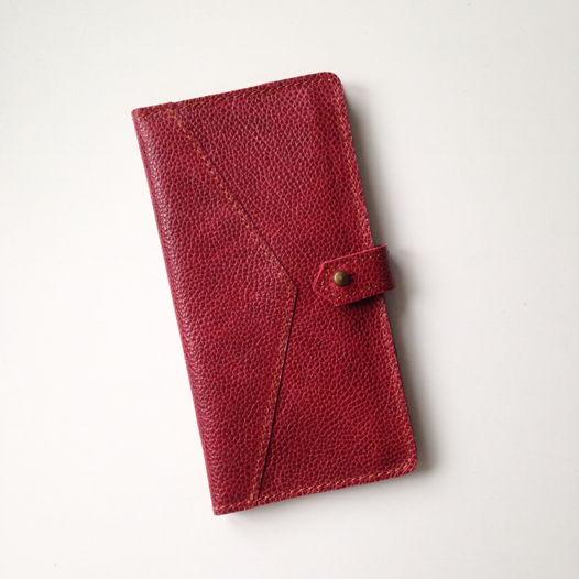 Кожаный кошелек-портмоне Strawberry