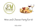 Wine & Cheese Cocktail Party for 10