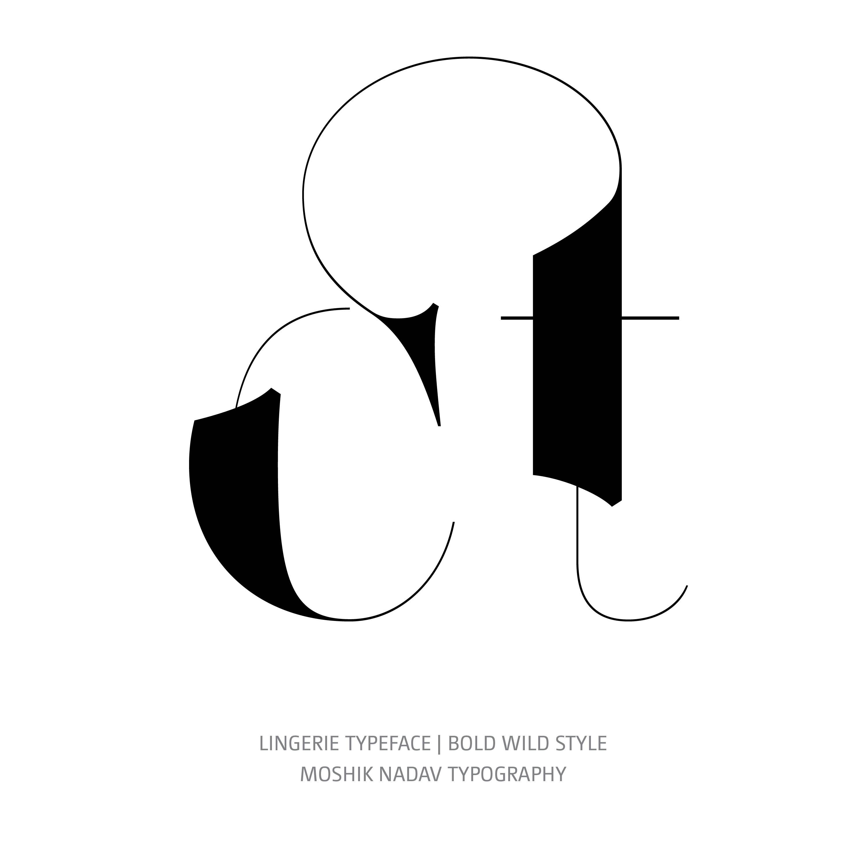 Lingerie Typeface Bold Wild ct ligature