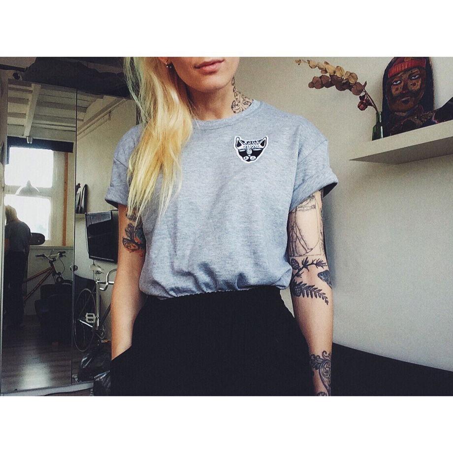 Футболка с патчем - Котик GVOZDEVA