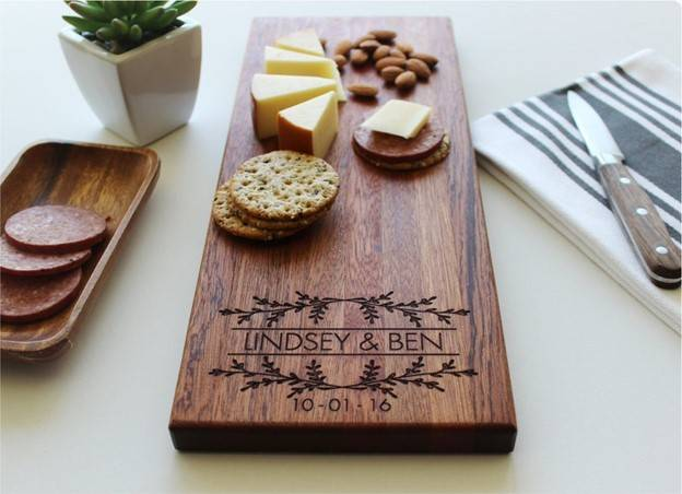 Personalized Cheese Charcuterie Board