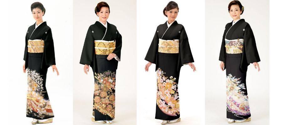 Women Wearing Tomesode Kimono