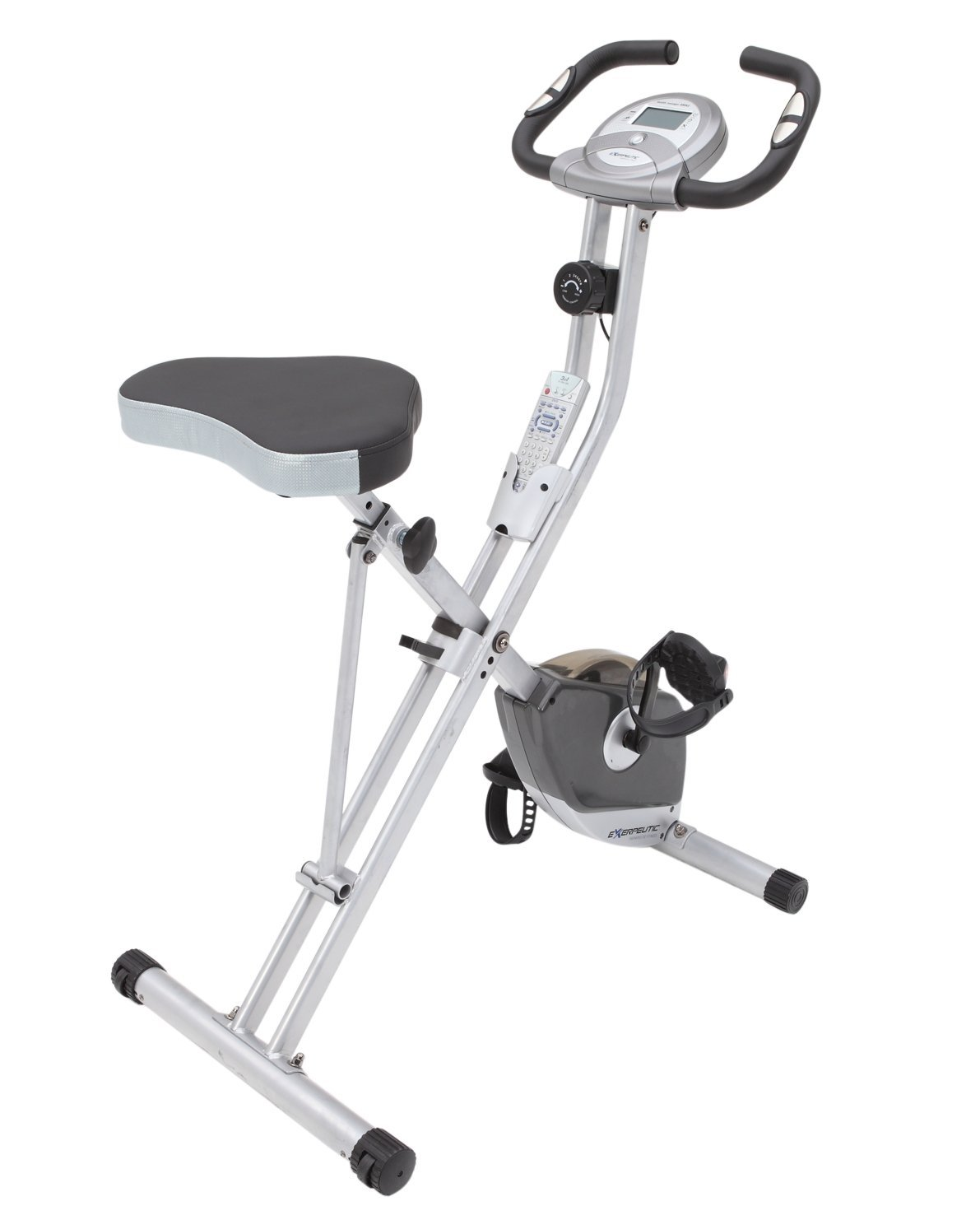 Exerpeutic Folding Magnetic Upright Bike with Pulse Review - Slant