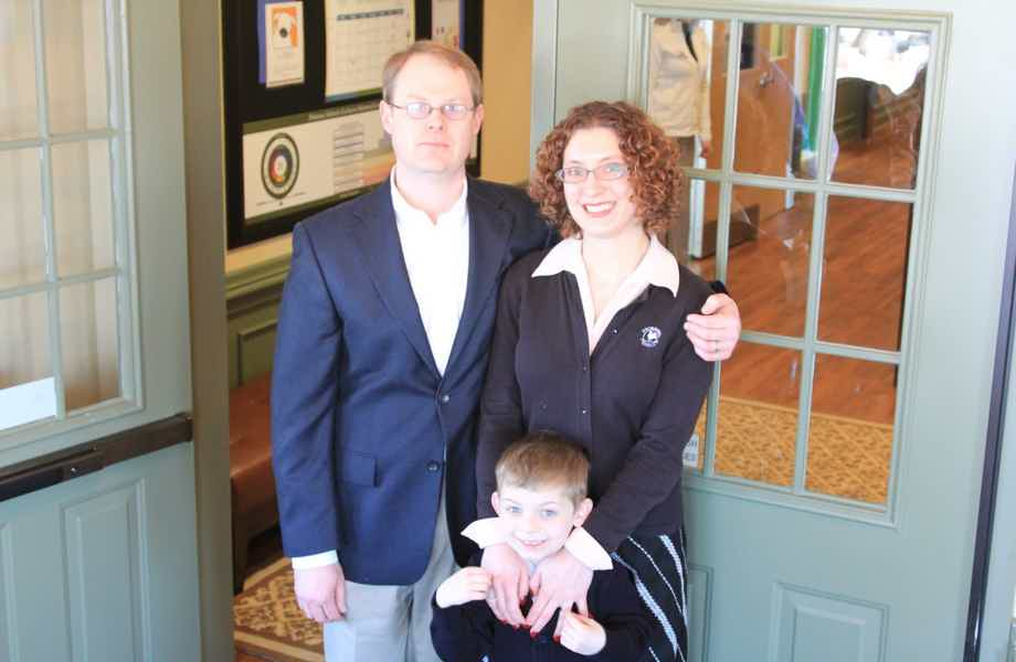 Franchise Owners of Primrose School Ben and Lisa Adams with their son