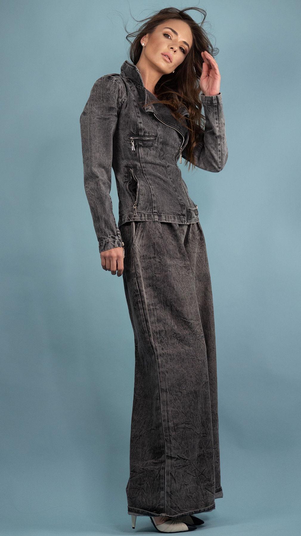 Байкерская куртка из джинсы
