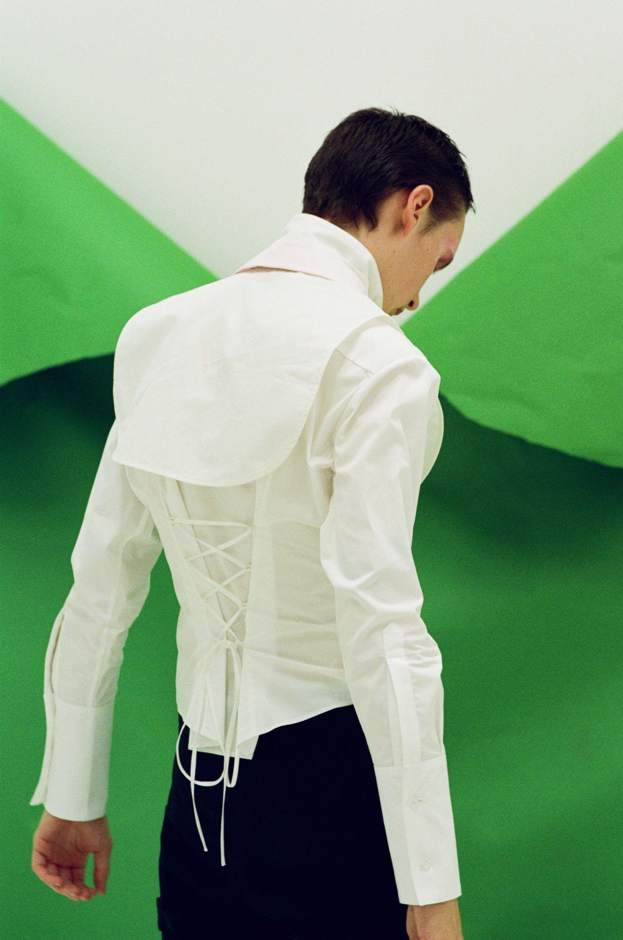 Charles Jeffrey Loverboy h lorenzo mens fashion fw17 laced blouson