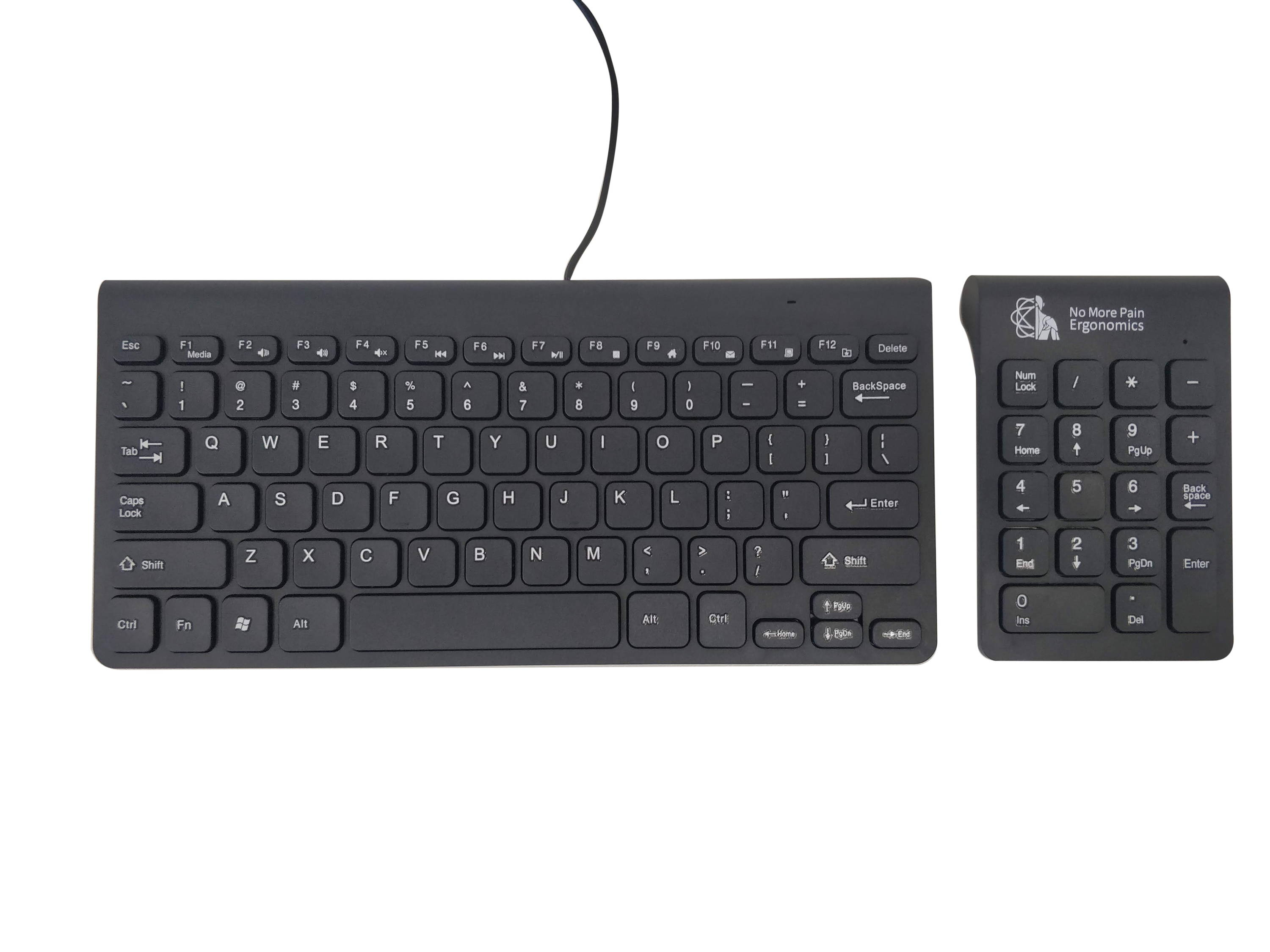 Ergonomic keyboard for carpal tunnel syndrome
